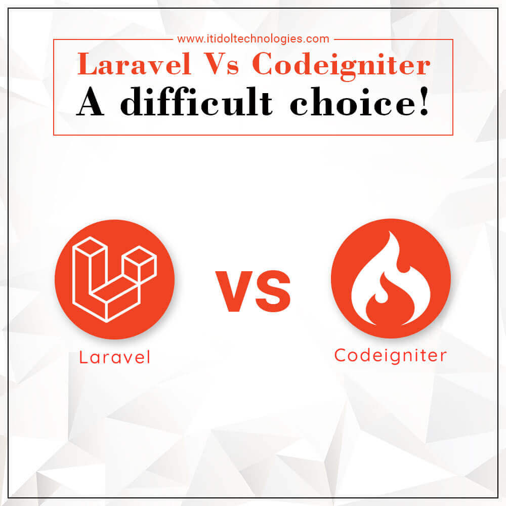 Laravel Vs Codeigniter. A difficult choice!