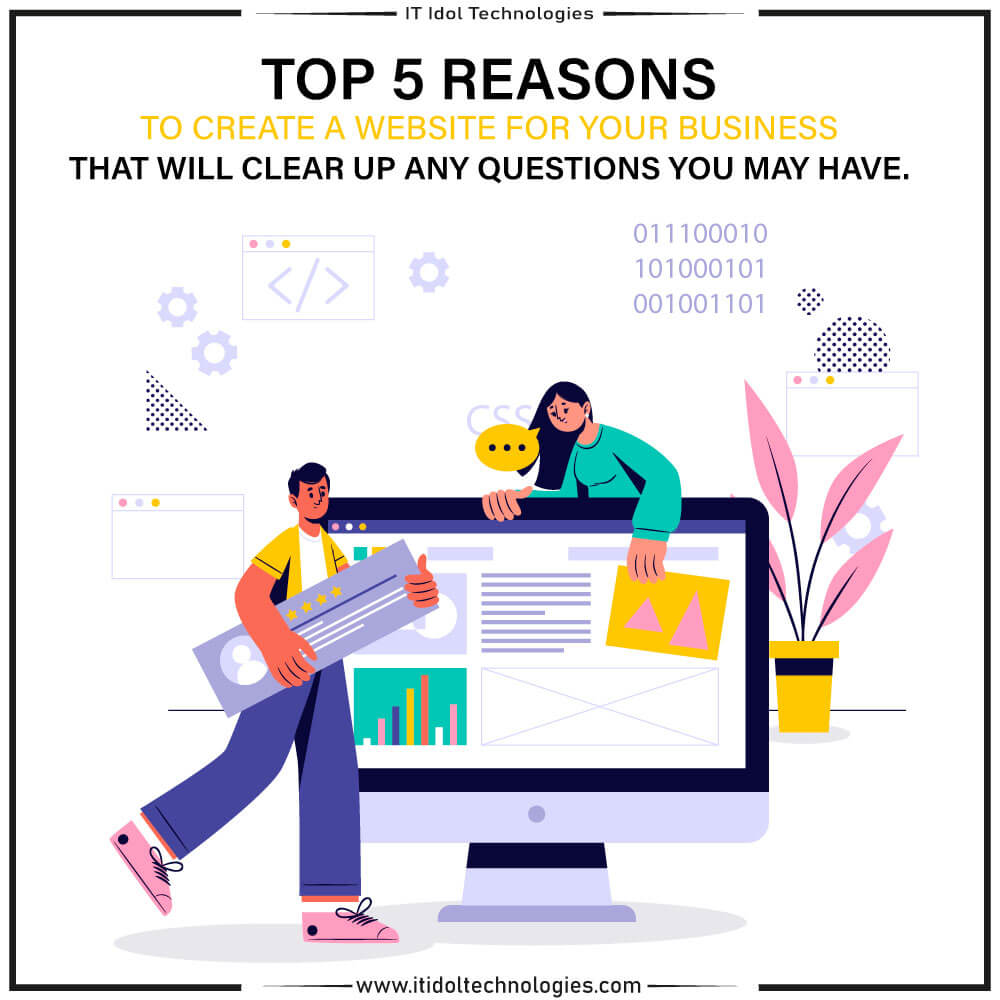 Top 5 reasons to create a website for your business that will clear up any questions you may have.